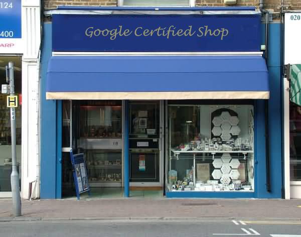 Google Certified Shop Front
