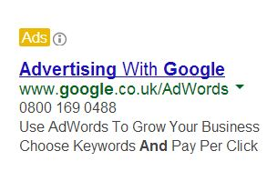 "Google ""Yellow Ads"""