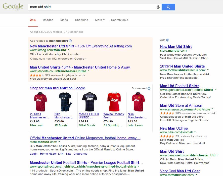 Google's Original Search Results