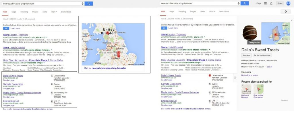 Local listing and knowledge graph comparison