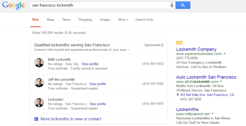 Google local services paid ads