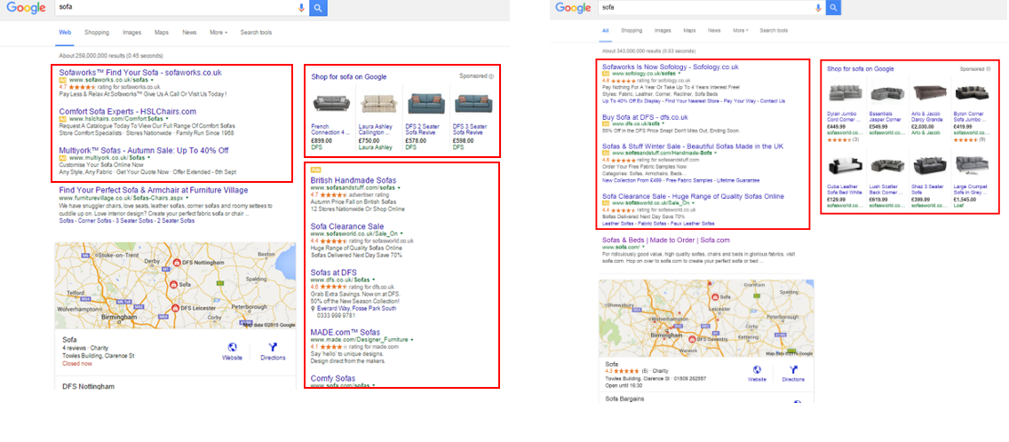 Google Removes Ads from Right Hand Side And Introduces A Fourth Advert Above The Organic Results