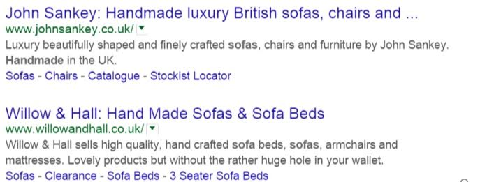 SERP's before width changes