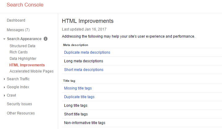 SC HTML Improvements