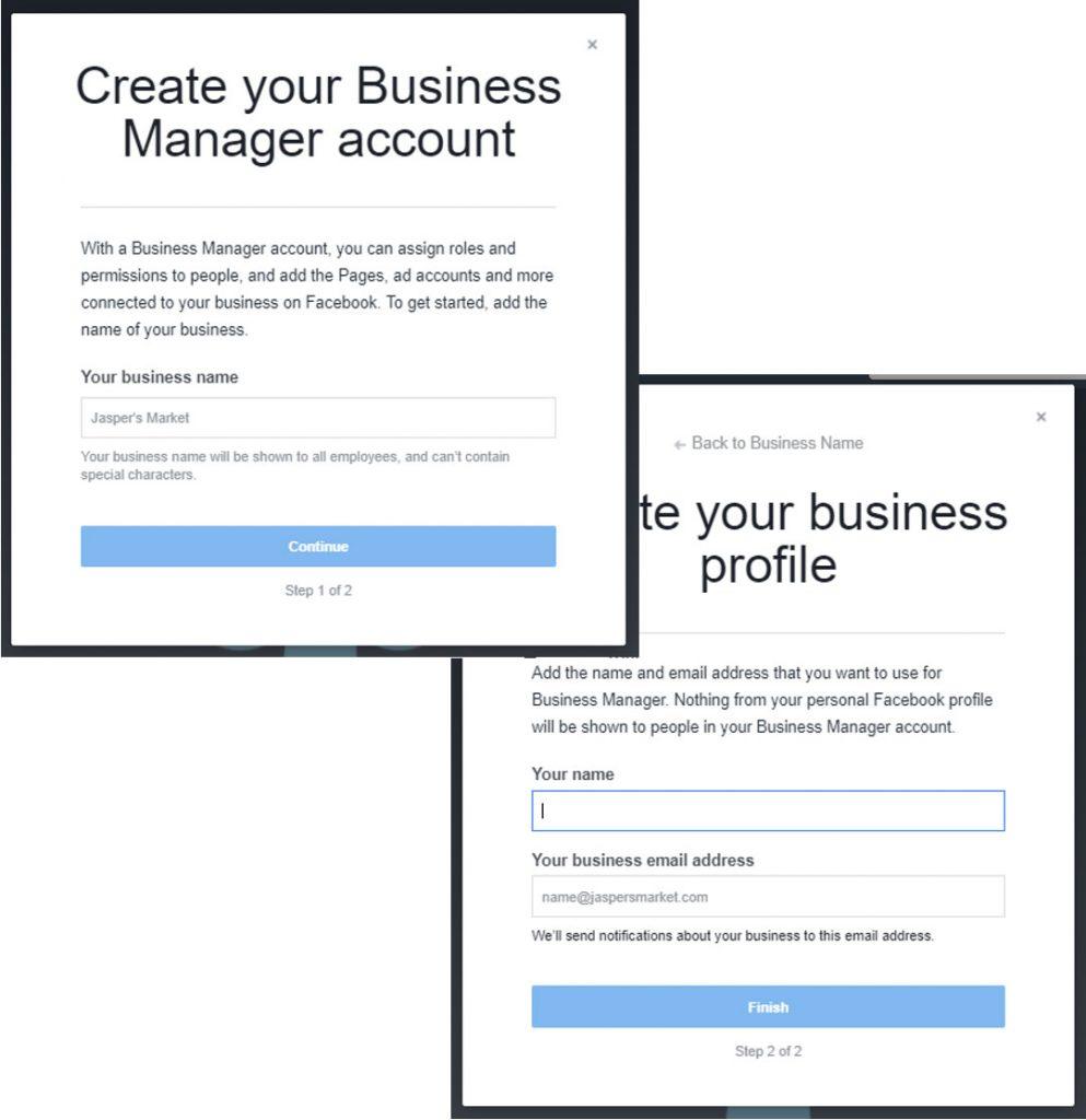 Set New Facebook Account
