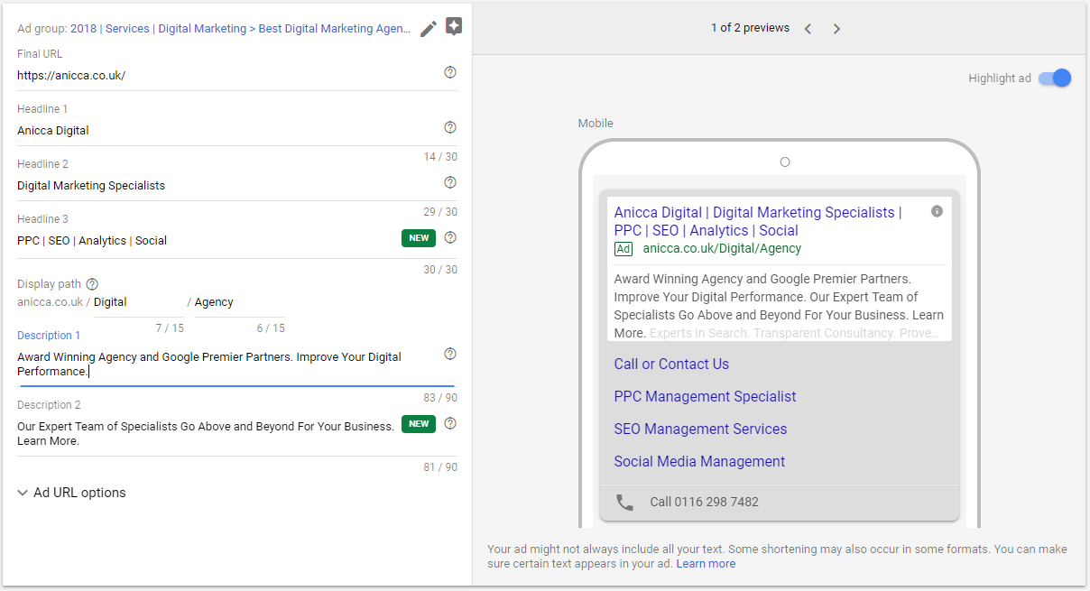 Important Changes to Google Ads (AdWords) Expanded Text ads