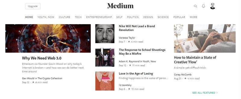 Medium for content marketing ideas