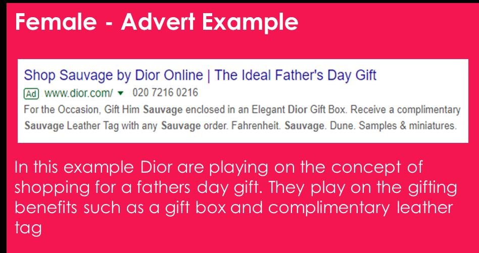 female ad example