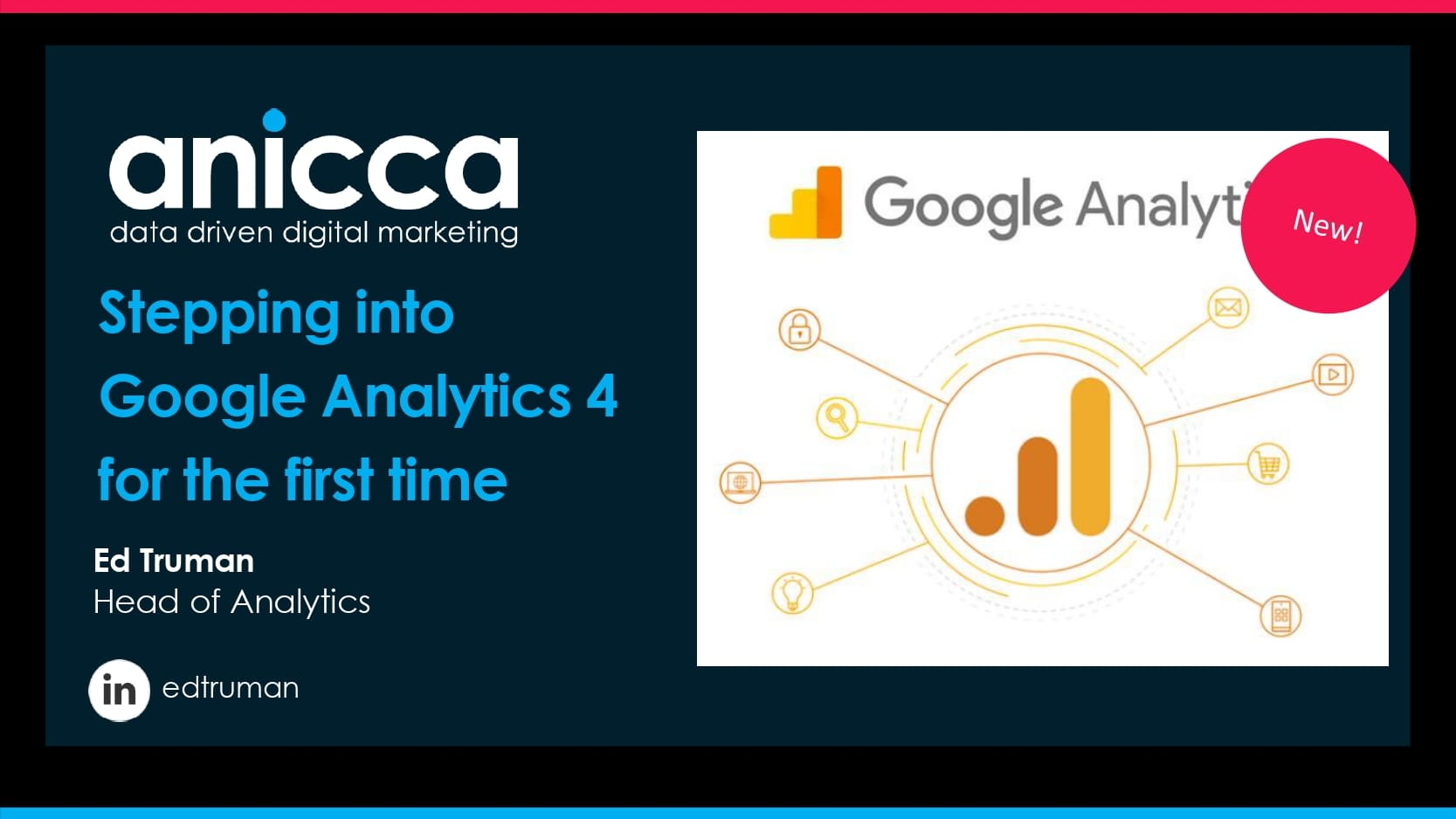 Stepping into Google Analytics 4 by Ed Truman of Anicca Digital
